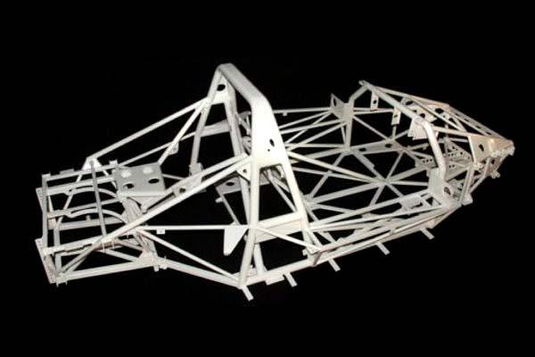 Gitterrohrrahmen für einen Sportwagen